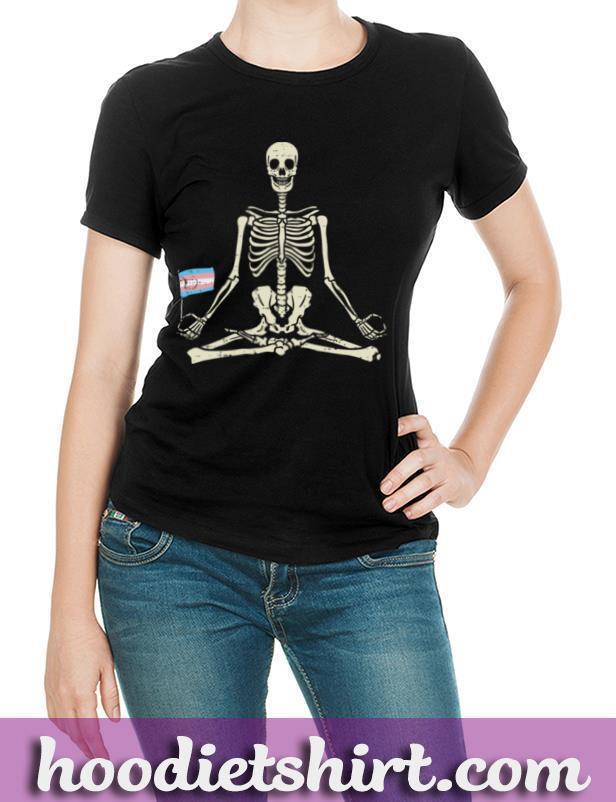 Skeleton Yoga Transgender Flag Yogi Trans Pride LGBT Gift Pullover Hoodie