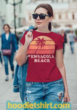 Pensacola Beach FL Vintage 70s Retro Throwback Design T Shirt